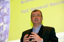 Brendan Barber TUC Unite against fascism rally NEC. - John Harris - 03-04-2004