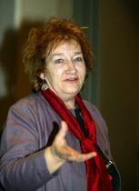 Maureen Foster of Searchlight, TUC Unite against fascism rally NEC. - John Harris - 03-04-2004