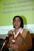 Maria Helena Andre ETUC at TUC Unite against fascism rally NEC. - John Harris - 03-04-2004