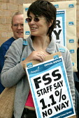 FSS staff (Forensic Science Service) on strike over pay, Prospect and PCS members. - John Harris - 09-06-2004