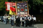 Joseph Arch march and rally in Wellesbourne Warwickshire where the Agricultural workers trades union was formed. - John Harris - 13-06-2004