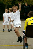 Emilio competing in a relay race at School Sports Day. - John Harris - 13-07-2004