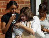 Pupils and their A level results, Shottery Grammar School for Girls, Stratford upon Avon. - John Harris - 2000s,2004,6th,6th form,adolescence,adolescent,adolescents,BAME,BAMEs,Black,BME,bmes,CELEBRATE,celebrating,celebration,celebrations,child,CHILDHOOD,children,cry,crying,disappointed,disappointment,dive