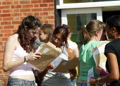 Pupils and their A level results, Shottery Grammar School for Girls, Stratford upon Avon. - John Harris - 2000s,2004,6th,6th form,adolescence,adolescent,adolescents,CELEBRATE,celebrating,celebration,celebrations,child,CHILDHOOD,children,edu education,exam,examination,examinations,examining,exams,female,fe