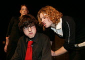 Pupils acting in an Anti Bullying week play �Banged Out by Robert Higgs performed in local Secondary schools by pupils from John Cleveland College - John Harris - 2000s,2004,abusive,ACE arts culture,act,acting,actor,actors,adolescence,adolescent,adolescents,aggressive,anti social behavior,anti social behaviour,anti socialanti social behavior,antisocial,antisoci