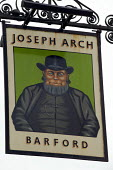 Sign of the Joseph Arch pub, he began the Agricultural Workers Union, now part of the TGWU, Barford to Wellesbourne. Warwickshire. - John Harris - 12-06-2005