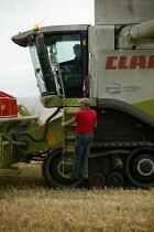 A combine harvester, Warwickshire. - John Harris - 10-08-2005