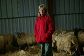 Shepherdess in the lambing shed, Worcestershire - John Harris - 03-06-2006