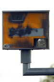 Damaged Gatso speed camera. - John Harris - 2000s,2006,anti social behavior,anti social behaviour,anti socialanti social behavior,antisocial,antisocial behaviour,antisocialvandalise,antisocialvandalize,behavior,behaviour,burnt,Burnt Out,camera,