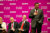 Deputy leadership candidates,chairwoman Polly Toinby, Peter Hain, Hilary Benn, and Jon Cruddas speaking at the hustings. - John Harris - 21-05-2007