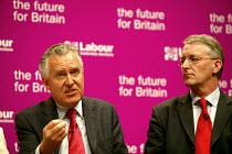 Deputy leadership candidates, Peter Hain and Hilary Benn at the hustings. - John Harris - 21-05-2007