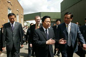 Liang Bao Hua, governor of Jiangsu Province at MG Rovers Longbridge factory in Birmingham which has been reopened by Chinas Nanjing Automobile, where parts made in China will be assembled. - John Harris - 29-05-2007