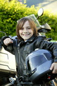 Small boy with motorcycle. - John Harris - 18-07-2007