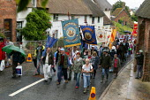 Agricultural workers banners, Tolpuddle Martyrs Festival, Dorset. - John Harris - 15-07-2007