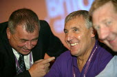 Brendan Barber sharing a joke with Tony Woodley, TGWU Unite, TUC Conference 2007 - John Harris - .,2000s,2007,conference,conferences,congress,funny,humor,humorous,HUMOUR,joke,jokes,joking,member,member members,members,people,TGWU,Trade Union,Trade Union,trade unions,Trades Union,Trades Union,trad