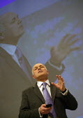 Iain Duncan Smith speaking, Conservative Party Conference Blackpool - John Harris - 2000s,2007,Conference,conferences,CONSERVATIVE,conservatives,Iain Duncan Smith,MP,MPs,Party,POL,pol politics,political,politician,politicians,Politics,SPEAKER,SPEAKERS,speaking,SPEECH