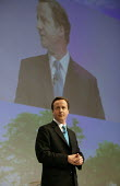David Cameron addressing Conservative Party Conference Blackpool - John Harris - 2000s,2007,Conference,conferences,CONSERVATIVE,conservatives,mp,Party,pol politics
