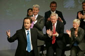 David Cameron addressing Conservative Party Conference Blackpool - John Harris - 2000s,2007,applauding,applause,Conference,conferences,CONSERVATIVE,conservatives,mp,Party,pol politics,Standing ovation