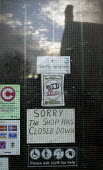 Sign in the window of a village shop Sorry this shop has closed down. Costcutter, Shipton under Wychwood, Oxfordshire, Cotswolds. - John Harris - 2000s,2007,bought,buy,buyer,buyers,buying,closed,closing,closure,closures,commodities,commodity,communicating,communication,consolidation,consumer,consumers,customer,customers,EBF Economy,general,good