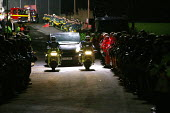 Firefighters were given a guard of honour by hundreds of their colleagues as their bodies were brought out of the collapsed plant. Four firefighters died in the fire at the Atherstone warehouse tackli... - John Harris - 2000s,2007,accident,accidental,ACCIDENTS,adult,adults,at,Atherstone on stour,building,BUILDINGS,crew,damage,damaged,danger,dangerous,death,deaths,dia disaster disasters accident,died,Emergency Service