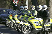 Police motorcyclists. Funeral Service Ian Ried, St Gregory's Church, Stratford on Avon. - John Harris - 03-12-2007