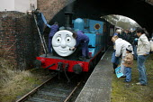 Thomas the tank engine, Telford Steam Railway, Madeley. - John Harris - 12-12-2004