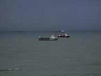Tankers at anchor, St Brides Bay, Pembrokeshire - John Harris - 05-02-2008