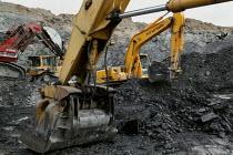 UK Coal opencast mine, Cutacre, Bolton. - John Harris - 2000s,2008,capitalism,capitalist,cast,coal,coalfield,digger,diggers,EBF,EBF economy,Economic,Economy,equipment,excavating,excavator,excavators,Industries,industry,job,jobs,LAB LBR Work,machine,machine