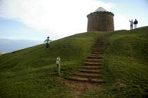 The Beacon and footpath, Burton Dassett Hills Country Park Warwickshire. - John Harris - 12-04-2008
