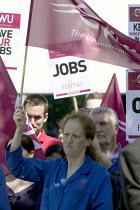 CWU protest at job losses, Fujitsu Solihull, Birmingham. - John Harris - 14-05-2008
