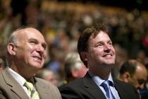 Vincent Cable MP and Nick Clegg MP, Liberal Democrats Conference. - John Harris - 2000s,2008,democrat,democrats,liberal,liberals,mp,mps,party,pol politics,politician,politicians,Vincent