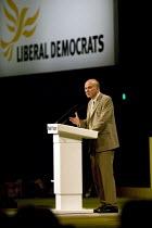 Vincent Cable MP, Liberal Democrat Conference. - John Harris - 2000s,2008,democrat,democrats,liberal,liberals,mp,mps,party,pol politics,politician,politicians,Vincent