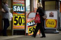 Woolworths closing down sale. Stratford on Avon. - John Harris - 2000s,2008,50,50%,bargain,bargins,bought,buy,buyer,buyers,buying,close,CLOSED,closing,closure,closures,commodities,commodity,communicating,communication,consumer,consumers,Credit Crunch,customer,custo