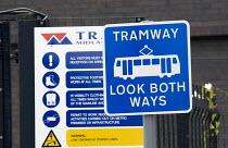 LRTA Midland Metro Tramway, Wednesbury town centre. - John Harris - 18-07-2009