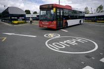 A bus leaving Wednesbury bus station - John Harris - 2000s,2009,bus,bus service,Bus Stop,buses,cities,city,EBF,Economic,Economy,journey,journeys,leaving,limits,passenger,passengers,people,public,scene,scenes,service,services,Speed Limit,station,STATIONS