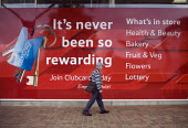 A loyalty clubcard advertisement at new Tesco store, Madeley, Telford. - John Harris - 07-09-2009