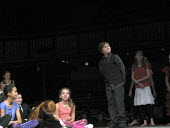Primary school pupils acting on stage at the RSC performing their version of Twelfth Night by William Shakespeare, Royal Shakespeare Company Theatre Link Project, Courtyard Theatre, Stratford upon Avo... - John Harris - 19-11-2009