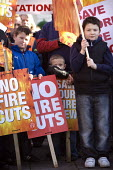 Hundreds of people march through Warwick to protest against the closure of fire stations in Warwickshire. Warwick Fire Station, manned by retained firefighters, is one of seven under consideration fo... - John Harris - 06-12-2009