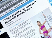 A Daily Mail newspaper article on Pole dancing lessons for 11 year old girls - John Harris - 13-03-2010