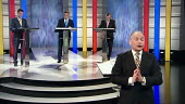 The first election debate on television. Nick Clegg, David Cameron and Gordon Brown on ITV - John Harris - 15-04-2010