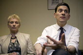 David Miliband MP on his Labour leadership campaign tour in Worcester. Talking to Labour activists about the election defeat. - John Harris - 13-05-2010