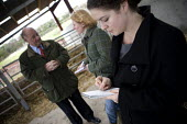 Jim Piace MP visiting a dairy farm, Taverner Farm in Exeter. Discussing the impact of TB outbreaks with journalists - John Harris - 10-11-2010