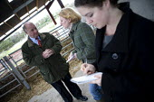Jim Piace MP visiting a dairy farm, Taverner Farm in Exeter. Discussing the impact of TB outbreaks with journalists. - John Harris - 10-11-2010