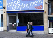 Closed employment agency, Wise Employment. Bristol. - John Harris - 2010s,2011,adolescence,adolescent,adolescents,agencies,agency,casual workers,child,CHILDHOOD,children,cities,city,Closed,closing,closure,closures,EBF,Economic,Economy,employee,employees,employment,job