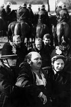 Police arrest miners, Orgreave Coke works, Yorkshire - John Harris - 1980s,1984,adult,adults,arrest,arrested,arresting,Battle of Orgreave,BSC,CLJ,coke works,coking plant,DISPUTE,DISPUTES,INDUSTRIAL DISPUTE,mass picket,MATURE,member,member members,members,MINER,miners,M