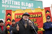 Bob Crow RMT speaking at the commemoration of the events of forty years ago when the trade union movement won a victory in what is now known as The Battle of Saltley Gates in support of the NUM miners... - John Harris - 10-02-2012