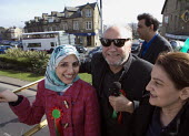 Salma Yaqoob from Birmingham Respect & party leader joins George Galloway Respect Party victory. Bradford West By election. - John Harris - 31-03-2012