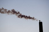 Smoke from a chimney. Stanlow Oil Refinery, Essar Energy, Ellesmere Port, Chesire. - John Harris - 12-03-2013