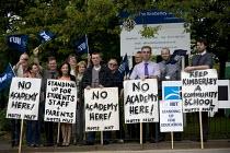 Teachers at Kimberley School protest at against academy status, Nottinghamshire - John Harris - 17-07-2012