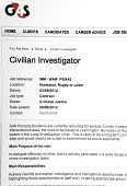 G4S website advertisement for Civilian Investigator Policing Solutions, privatised Police service jobs for ex police officers in Warwickshire - John Harris - 04-09-2012